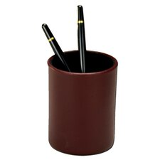<strong>Dacasso</strong> 7000 Series Contemporary Leather Pencil Cup in Burgundy