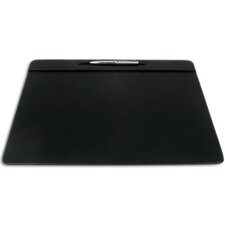 <strong>Dacasso</strong> 1000 Series Classic Leather 17 x 14 Pen Well Conference Pad in Black