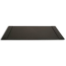3200 Series Rustic Leather 34 x 20 Side-Rail Desk Pad in Rustic Black