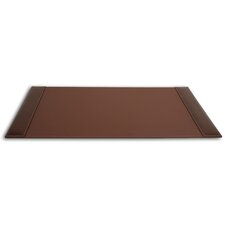<strong>Dacasso</strong> 3200 Series Leather 34 x 20 Side-Rail Desk Pad in Rustic Brown