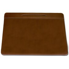 3200 Series Leather 17 x 14 Pen Well Conference Pad in Rustic Brown