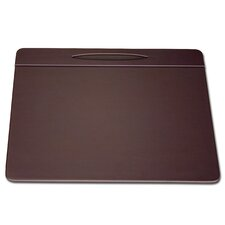 1000 Series Classic Leather 17 x 14 Pen Well Conference Pad in Chocolate Brown