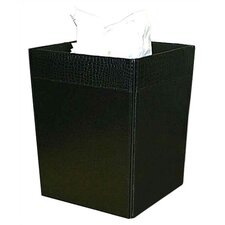 2000 Series Crocodile Embossed Leather Square Waste Basket