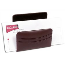 <strong>Dacasso</strong> 1000 Series Classic Leather Letter Holder in Chocolate Brown