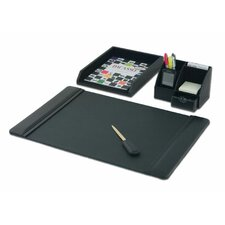 <strong>Dacasso</strong> Leather 4-Piece Desk Set