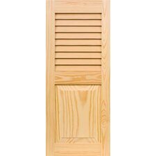<strong>Shutters By Design</strong> Stain Grade Louver Over Raised Panel Pine Shutter