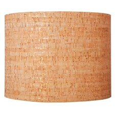 "16"" Natural Cork Drum Shade"
