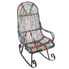 Cloth Wrapped Rocking Chair