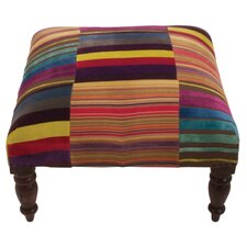 Stripe Footstool