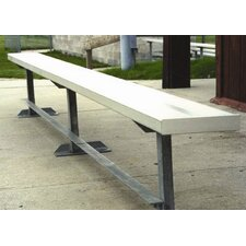 <strong>All Star Bleachers</strong> 15' W Aluminum Frame Team Bench with Optional Back & Contour Seat