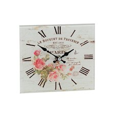 Bouquet Glass Mantle Effect Clock