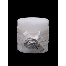 Rose Water Fragranced Rustic Candle