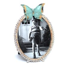 Oval Butterfly Photo Frame