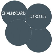 Chalkboard Circles Removable Wall Decal (Set of 4)