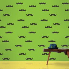 <strong>WallCandy Arts</strong> Mustache Wallpaper