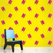 Twin Pops Wallpaper in Yellow and Pink