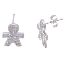 Boy Cubic Zirconia Stud Earrings