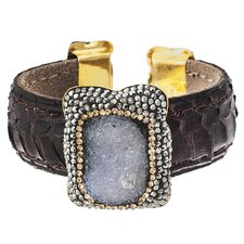 Snake Crystal Cuff Bangle Bracelet