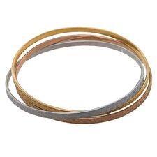 Weave Bangle Bracelet Set (Set of 3)