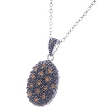 Silver Plated Gemstone Pendant Necklace