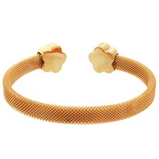 <strong>Lesa Michelle</strong> Flower Mesh Cuff Bangle Bracelet