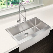 "Chef Series 32.88"" x 20.75"" Single Bowl Kitchen Sink"