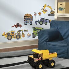 <strong>RoomMates</strong> Construction Vehicles Wall Stickers