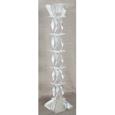 Diamond Glass Candlestick