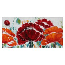 Tuscan Poppies Long Canvas Art