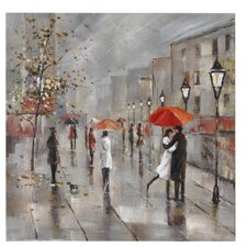Paris in the Rain Canvas Art