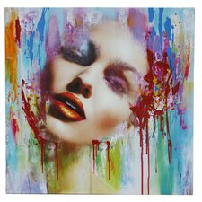 Abstract Painted Face Wall Art