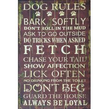 Wandschild Dog Rule - 91 x 61 cm