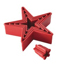 5 Piece Stars Fondant Cutters Set