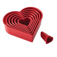 7 Piece Heart Fondant Cutters Set