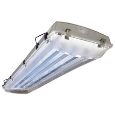 2 Light Vapor Proof High Bay Fluorescent Light Fixture