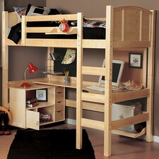 Radia Twin Loft Bed with Ladder