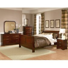 <strong>Woodbridge Home Designs</strong> Chateau Brown Sleigh Bedroom Collection
