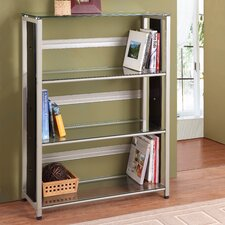 4861 Series Bookcase in Distressed Black and Champagne