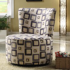 Blue Geometric Easton Chair