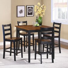 <strong>Woodbridge Home Designs</strong> Lynn 5 Piece Counter Height Dining Set