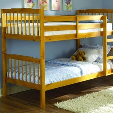<strong>Woodbridge Home Designs</strong> B27 Series Twin over Twin Bunk Bed with Built-In Ladder