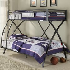 Spaced Out Bunk Twin over Full Bed with Built-In Ladder