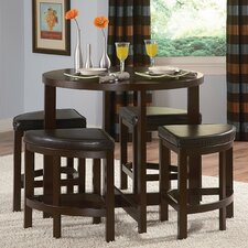 <strong>Woodbridge Home Designs</strong> Brussel II 5 Piece Counter Height Dining Set