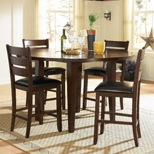 <strong>Woodbridge Home Designs</strong> Ameillia 5 Piece Counter Height Dining Set