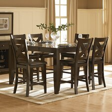 <strong>Woodbridge Home Designs</strong> Crown Point 7 Piece Counter Height Dining Set