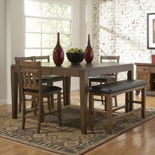 <strong>Woodbridge Home Designs</strong> Kirtland 6 Piece Counter Height Dining Set