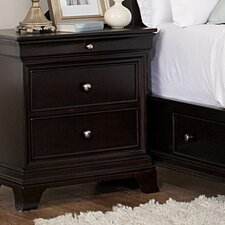 <strong>Woodbridge Home Designs</strong> Inglewood 2 Drawer Nightstand
