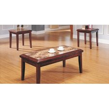 <strong>Woodbridge Home Designs</strong> Belvedere 3 Piece Coffee Table Set