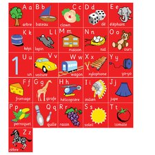 French Alphabet Kids Rug