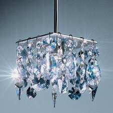 Cristello 1 Light Mini Pendant with Canopy